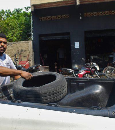 Prefeitura de Japeri realiza coleta de pneus inservíveis